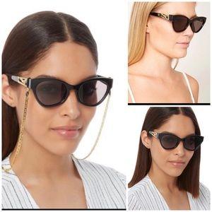 Le Specs Black Raffiene Panthere Sunglasses